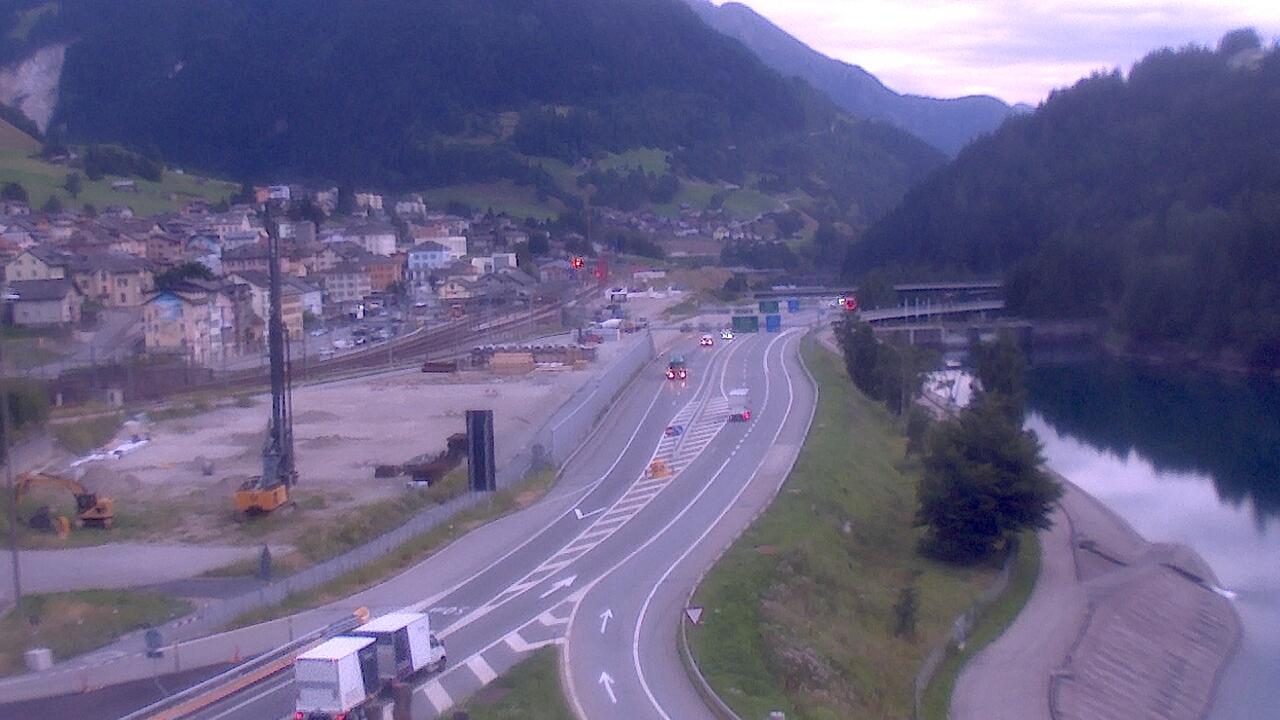 Caméra autoroute Suisse - Tunnel du Gothard - Entrée sud