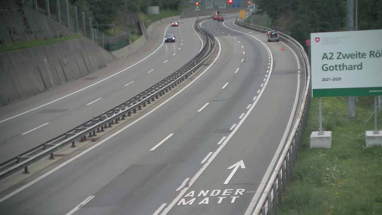 Webcam Gotthardtunnel Gschenen in Richtung Sd