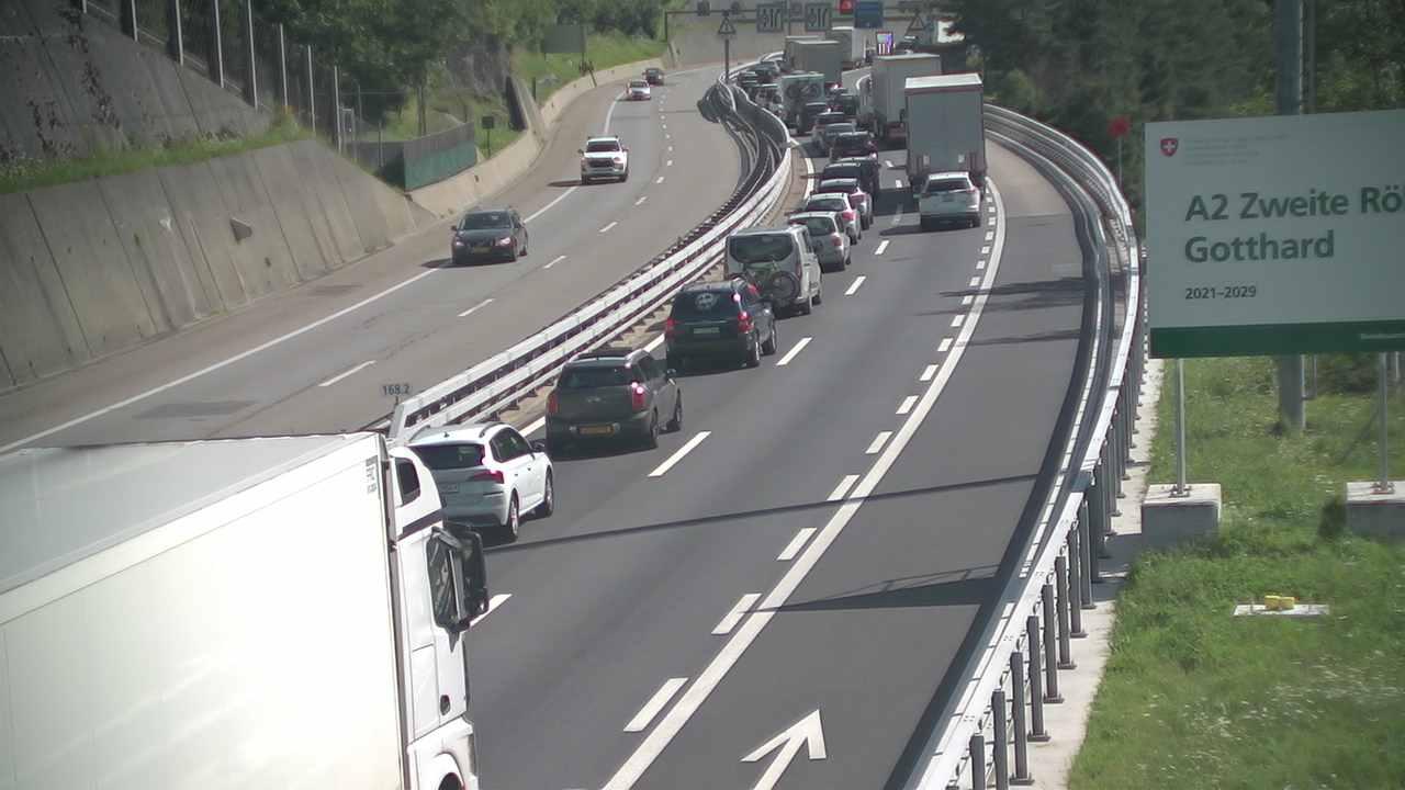 Caméra autoroute Suisse - Tunnel du Gothard - Entrée nord