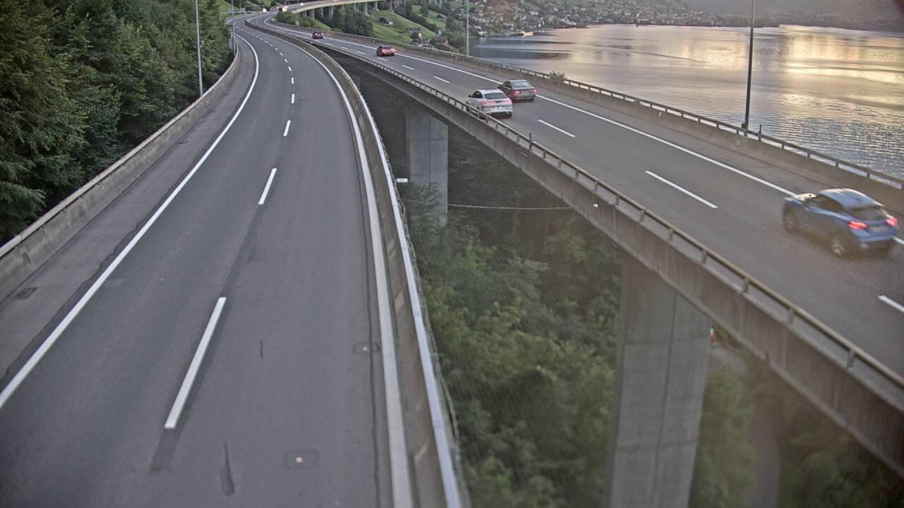Caméra autoroute Suisse - Tunnel de Seelisberg - Entrée nord à Beckenried