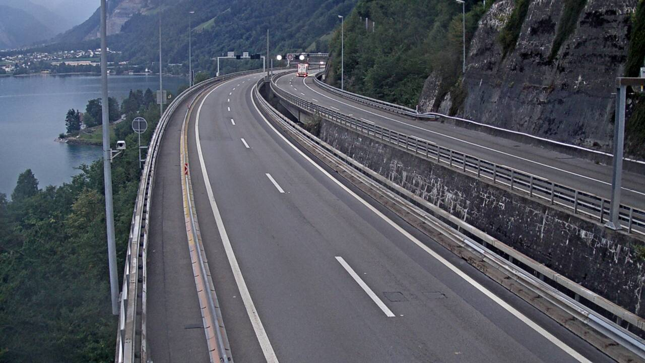 <h2>Caméra autoroute Suisse - Tunnel de Seelisberg - Entrée sud à Seedorf</h2>
