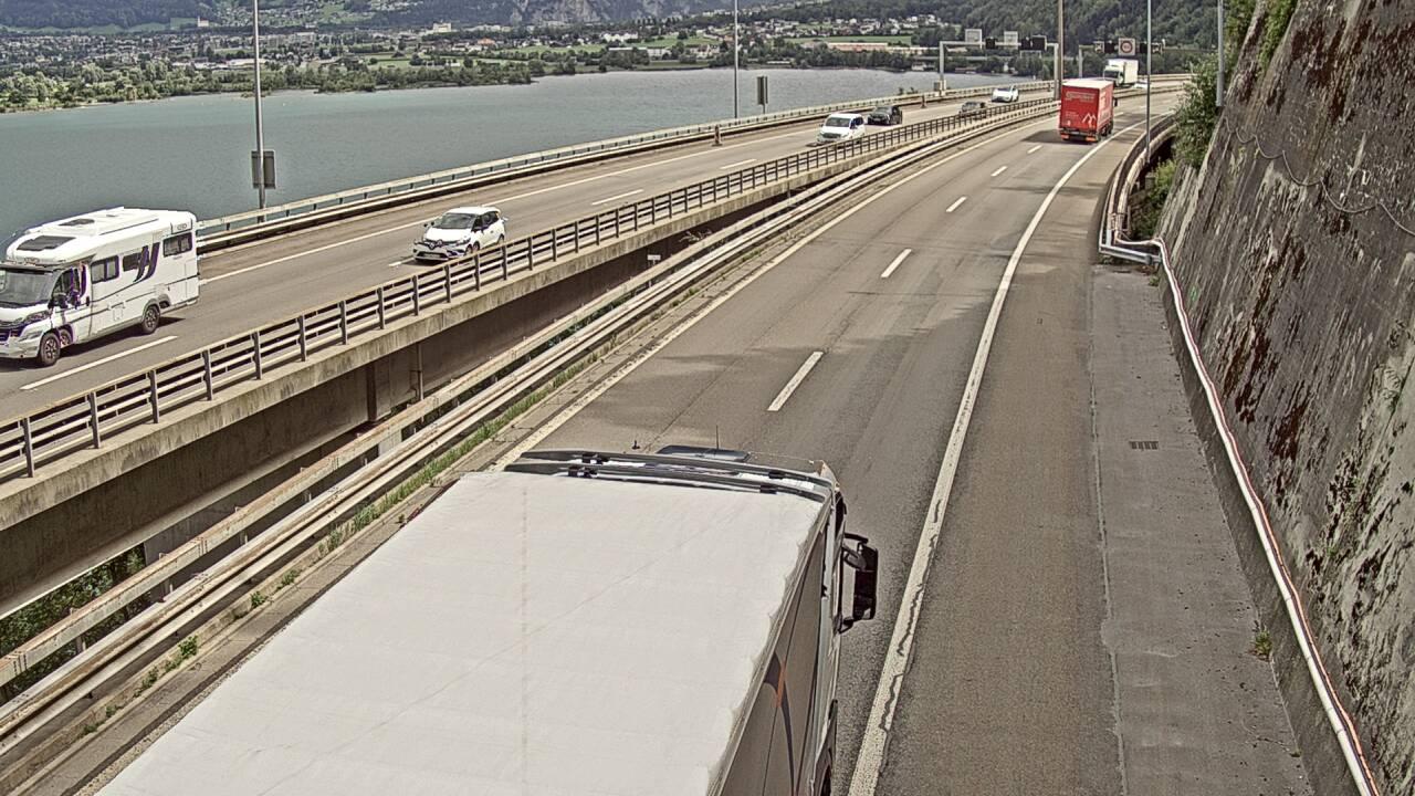 Caméra autoroute Suisse - Tunnel de Seelisberg - Entrée sud à Seedorf