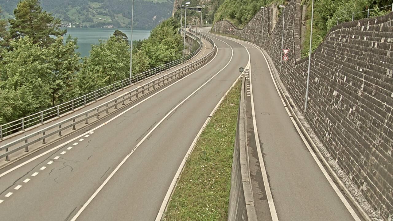 Tunnel omleiding Flüelen